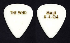 The Who Pete Townshend Maui 8-4-04 White Guitar Pick - 2004 Tour