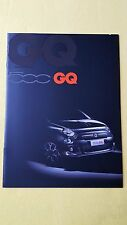 Fiat 500 GQ Special Edition paper brochure sales catalogue June 2013 MINT G Q
