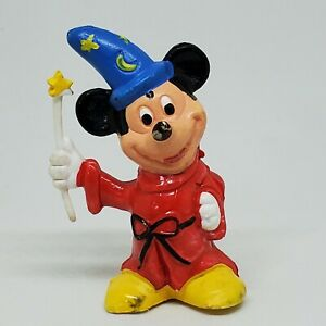 Vintage Mickey Mouse Sorcerer's Apprentice PVC Figure Disney Magician