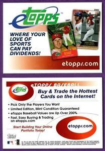 Albert Pujols & Adam Dunn 2002 Topps eTopps Ad / Decoy Card Pack Insert