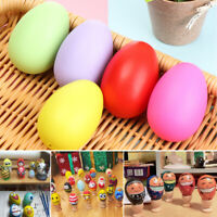 12X Solid Color Easter Eggs DIY Hand Painted Eggs Easter Decorative Toys Gifts