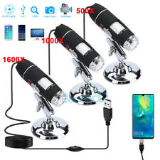 3in1 Usb Digital Microscope Endoscope 1600x 1000x 8led Magnifier Camera With Stand