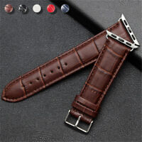 38/42/40/44mm iWatch Leather Band Wrist Strap for Apple Watch Series 6 5 4 3 SE