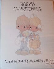 Hallmark Cards, Inc. Precious Moments Baby's Christening 8 Invitation Cards
