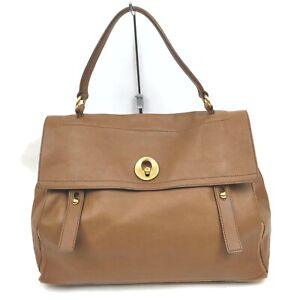 Yves Saint Laurent Tote Bag Muse Two Browns Leather 915498