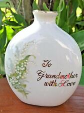 "Vintage ""To Grandmother With Lover"" Porcelain Vase by Papel ~ Made in Japan"