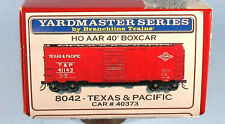 BRANCHLINE Texas & Pacific 40' AAR Boxcar (Red) 1/87 HO Scale Model Kit NEW!