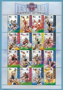 Australian 1996 Centenery Of the AFL Football League Mini Sheet Stamp MNH BAB424