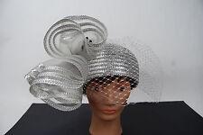 Vintage Sandra New York Silver Hat With Veil