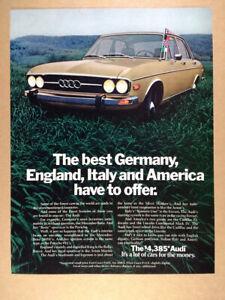 1973 Audi 100LS color photo vintage print Ad