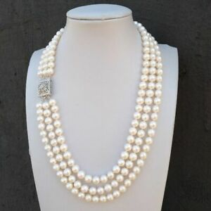 """3strands natural south sea white Pearl Necklace 18 """" 19 """"20"""""""