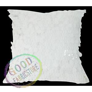 Gf501a White 18mm Sequins w/ Velvet Cushion Cover/Pillow Case*Custom Size*