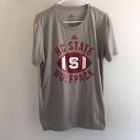 Adidas North Carolina NC State Wolfpack Gray Football T-Shirt Sz Men's M Medium