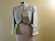 Jacques Vert Split Cuffs Crop Bolero Jacket T1Q1300 /Leaf /12US /14UK.