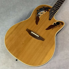 Ovation 1868 Elite Natural Acoustic Guitar Used Free Shipping