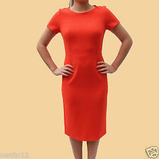 Next Classic Black Orange Navy Crepe Shift Fitted Pencil Dress Casual Office Day