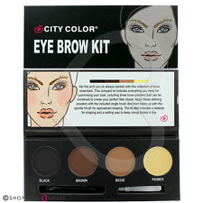 CITY Color sopracciglio Eye Brow Polvere Kit Cera Pennello Primer Pinzette Shaper Set Regalo