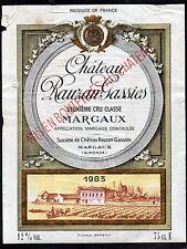 MARGAUX 2E GCC ETIQUETTE CHATEAU RAUZAN GASSIES 1983 75 CL      §05/12/16§