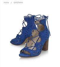 Sandalias sexy de gamuza azul 100% Botas Nine West Talla 8/10 W RP200 €