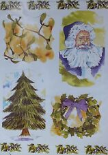 Craft UK Christmas Die Cut Toppers # 2158 Mistletoe Father Christmas Tree Wreath