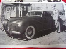 1941 LINCON ZEPHER CONVERTIBLE & RANDOLPH SCOTT    12 X 18  LARGE PICTURE  PHOTO