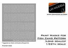 DN Models 1/32 Mask Fish Camo Pattern Paint Mask for Nieuport Roden Academy