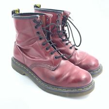 Dr. Martens Air Wair Womens Combat Boots Red Made in England Oxblood 10