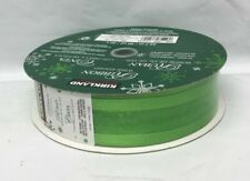 Kirkland Signature Green Christmas Wire Edge Ribbon 1.5 in Wide 50 Yd Long