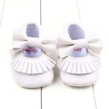 Toddler Girls Crib Shoes Newborn Baby Bowknot Soft Sole Prewalker Sneakers 0-18M