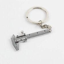 LK_ Useful Mini Vernier Caliper Tool Pendant Slider Slides Keyring Key Chain _GG