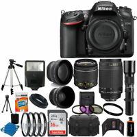 Nikon D7200 Digital Camera + 18-55mm VR + 70-300mm +500mm + Top Accessory Bundle
