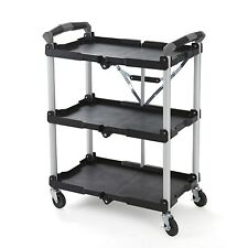 Olympia Collapsible Service Cart, Mobile, Durable All Purpose Utility Storage