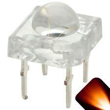 50 x LED 5mm Dome Superflux Amber Orange Piranha LEDs Turn Lights Super Flux