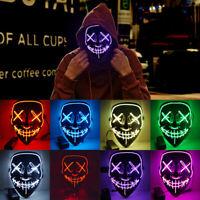 Cosplay Máscara Purga Halloween Careta Película Terror con Luz Miedo Asustar