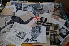 Rare Bing Crosby  Ephemera etc. 1950s-1980