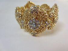 J.Crew Gold Crystal Circle Stretch Bracelet NIP $48