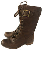 Timberland Women's Savin Hill Mid- Lace Boots Size 7 Tobacco Buckle Zips Brown