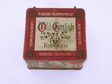 Vintage Old English Bait Box made from an Old English Curve Cut Pipe Tobacco Tin