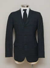 Vintage Mens 40R Richman Brothers Blue and Green Plaid Wool Blazer