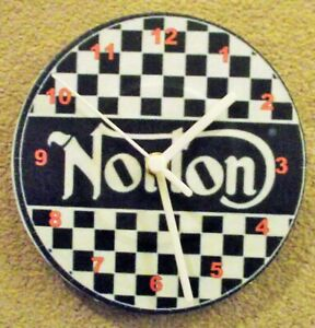 "NORTON 7"" WALL CLOCK upcycled NORTON"