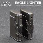 Creative Butane Flame Cigar Lighter Refillable Gas Windproof Torch Green LED D2