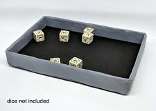 Handcrafted - Dice Tray -Greystone Finish,ideal for Board Gaming from PlayTrayUK