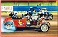 Screamin Fuel Altereds at Lions..Drag Racing Art Print