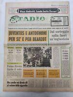 CORRIERE DELLO SPORT 16-1-1978 JUVENTUS SCUDETTO D'INVERNO ROMA LAZIO MILAN
