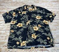 Vintage Men's Kalaheo Short Sleeve Hawaiian Shirt Size L Made In Hawaii