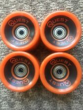 Quest Longboard Cruiser Wheels 65mm 78a And Abec 5 Bearing Package
