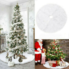 Christmas Tree Skirt Base Soft Plush Floor Mat Cover XMAS Party Ornament Pad Hot