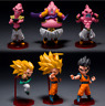 6pcs Dragon Ball Z Super Saiyan Goku Goham Buu Boo WCF Figure 9-11cm