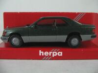 Herpa 3064 Mercedes-Benz 300 CE Coupé (1987) in grünmet./grau 1:87/H0 NEU/OVP