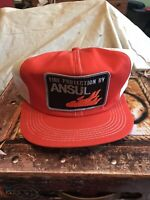 Vintage Fire Protection By Ansul Snapback Patch Mesh K Brand Trucker Hat Cap